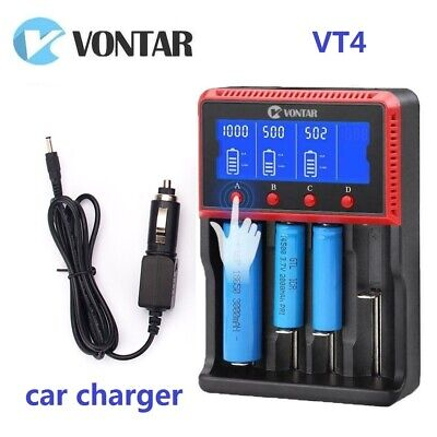VONTAR VT4 Universal quad lipo battery charger For 26650 18650 Li-ion Ni-MH AA