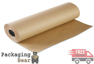 1 ROLL 600mm x 50M ROLL OF STRONG BROWN KRAFT WRAPPING PAPER 88gsm | FREE P&P
