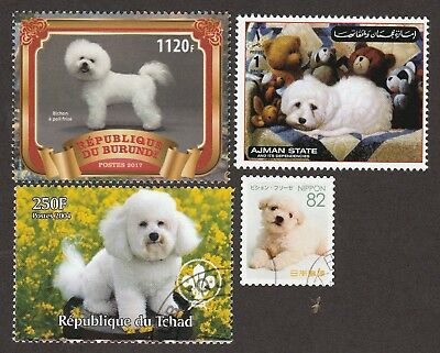 BICHON FRISE ** Int'l Dog Postage Stamp Collection **Unique Gift Idea**
