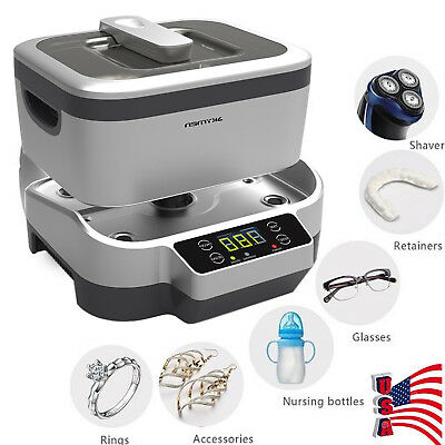 Digital Ultrasonic Cleaner Polishing Jewelry Detachable Tank For Rings Watches