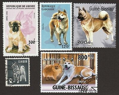 AKITA INU ** Int'l Dog Postage Stamp Collection ** Great Gift Idea **
