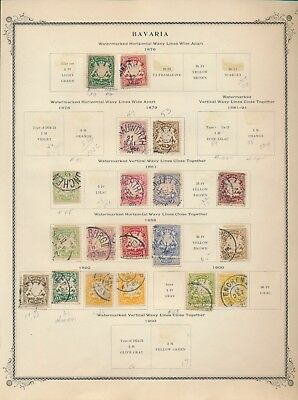 275 Early Bavarian Stamps From Scott Specialty Album. 1876-1920