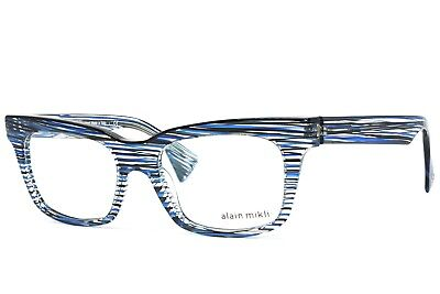 c10e9e82e1 NEW ALAIN MIKLI A03032 B0D2 Black Authentic Eyeglasses Frames 53-17 ...