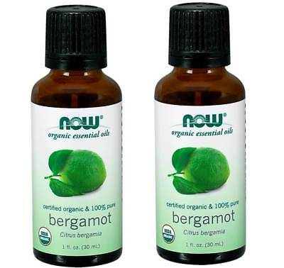 Now Foods - Organic Essential Oils, Bergamot, 1 fl oz (30 ml) - 2 Packs