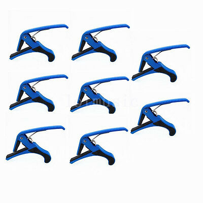 8Pcs Quick Change Clamp Key Capo for Acoustic Electric Classic Guitar Blue Metal