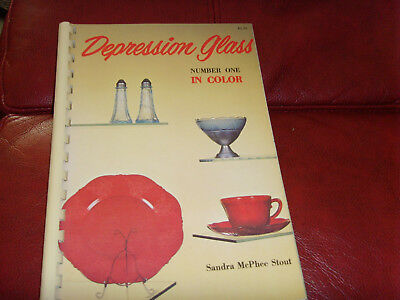 1970 book Depression Glass Number One in Color by Sandra McPhee Stout guide