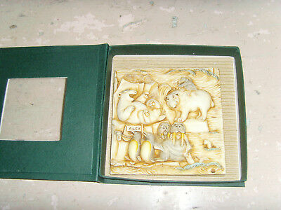 Picturesque Noah's Park Glacier Falls Tile bear penguin walrus animals in box