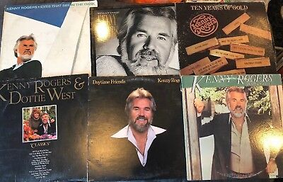 Kenny Rogers Lot of 6 LP Vinyl 33 Record collection w/ Dottie West Vintage