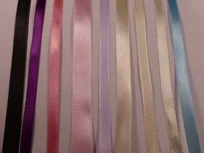 Satin Ribbon 2 Meters 99p - Brand New - Many Colours Available - 6mm to 12mm