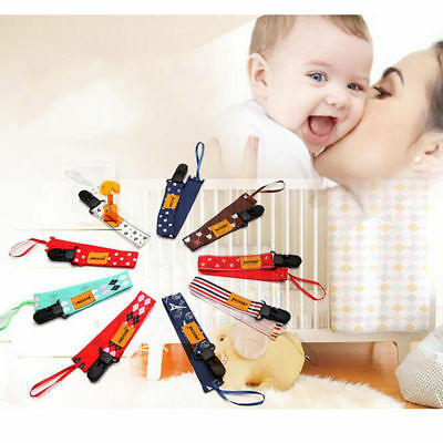 1PC Girls Boys Pacifier Soother Dummy Nipple Leash Strap Chain Clip XT18