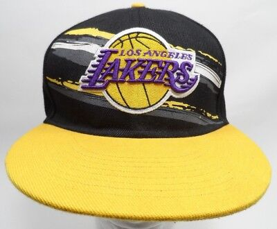 reputable site 5f85b 07f05 NBA Los Angeles Lakers Hat Flat Bill Snapback Cap New Era Hardwood Classics  HWC