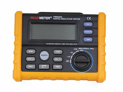 Analog Digital 50V-1000V Isolationstester Megger PM5203  Meter 0.01~10G Ohm Mete