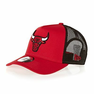 New Era Reverse Team Trucker Mens Headwear Cap - Chicago Bulls Otc One Size