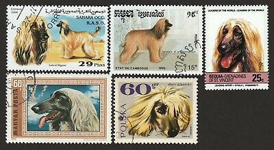 AFGHAN HOUND ** Int'l Dog Postage Stamp Collection ** Great Gift Idea **