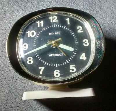 Vintage Westclox Big Ben Repeater Alarm Clock Working Glow in the dark