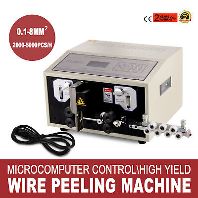 Automatic Computer Wire Stripping Machine Cutting Peeling Machine 0.1 - 8 m㎡ CE