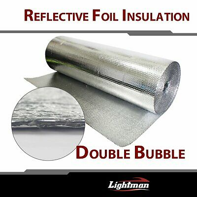 """39""""W Bubble Double Foil Thermal Insulation Home House Attic Roof Wall Guard"""