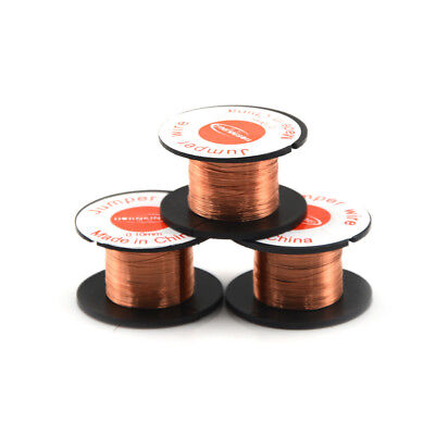 3 Roll Magnet Wire AWG Gauge Enameled Copper Coil Winding 0.1mm IU