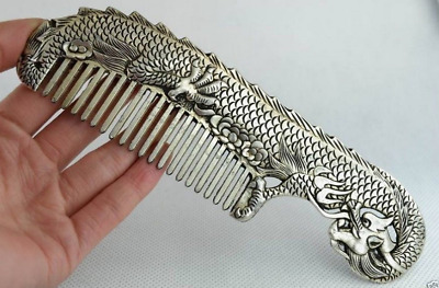 Asian dragon comb old boutique handmade Tibetan