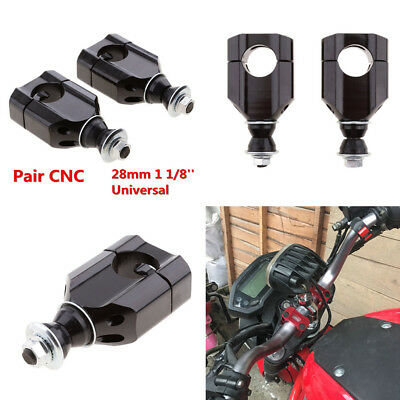 2PCS 28mm 11/8'' Handle Bar Mounts Clamp Riser For Motorcycle Motorbike Quality