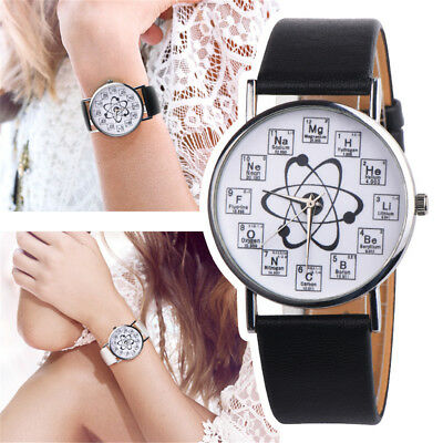 Womens Fashion Casual Watch Ladies Faux Leather Analog Quartz Wrist Watches Hoc