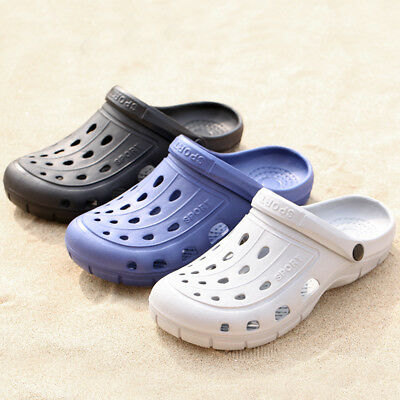 UK Men's Beach Sandals Slippers Garden hollow-out Shoes Breathable New summer