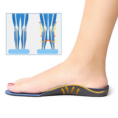 Flatfoot Orthotics Pain Relief Pads Arch Supports Shoe Feet Massage Insoles AU P