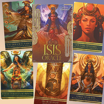 Large Egyptian Goddess  Isis Oracle Cards  Book Ancient Teachings High Priestess