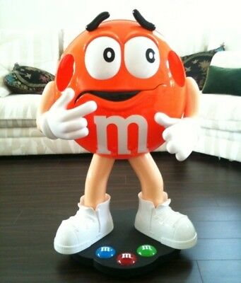 Rare Orange M&M Character Candy Store Display GENTLY USED! 3FT TALL!