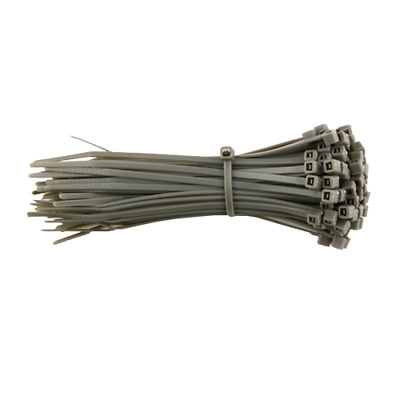 CABLE TIES TIE WRAPS SILVER NYLON ZIP TIE 250mm x 4.8mm 45pc PACK GOOD QUALITY