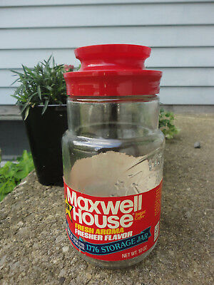 Vintage Maxwell House Flag & Stars Coffee Jar w/ Label