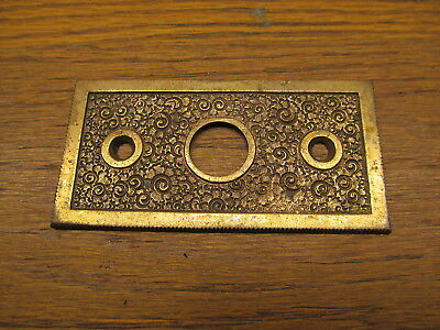 "Brass ? Bronze ? Flush Mount Deadbolt Strike Plate  Catch Plate "" Damascene "" ?"
