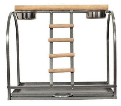 Parrot Play Stand 54x34x45cm Table top Feeder African Grey Amazons Pull Out Tray