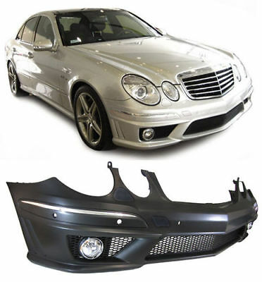Mercedes E-class W211 S211 E63 AMG LOOK FRONT BUMPER WITH FOGS Facelift AMG