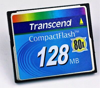 2 Stück CF-Karte 128MB Transcend CompactFlash 80x -High Speed -