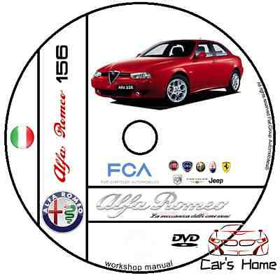 Manuale Officina Alfa Romeo 156 Workshop Manual Service Cd Dvd Software E-Learn