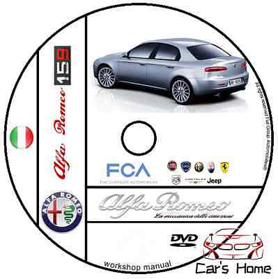 Manuale Officina Alfa Romeo 159 Q4 Workshop Manual Service Dvd Software E-Learn