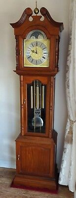 Grandfather clock,Triple chime,moonphase, SOLID WOOD THREE PIECE cabinet