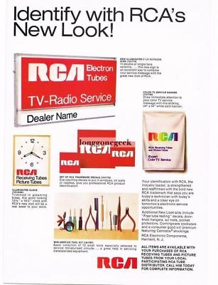 1969  RCA TV Radio Service Store Signs Clocks Advetisements Vtg Print Ad