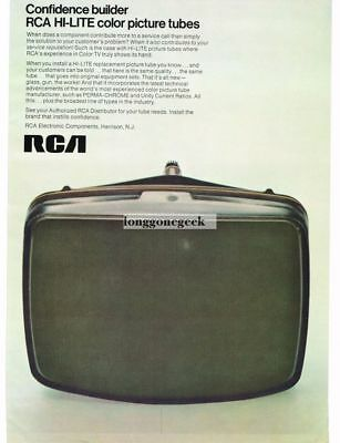 1969 RCA Hi-Lite Color TV Picture Tube Replacement Repair Service Vtg Print Ad