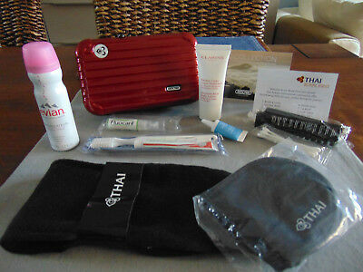 THAI AIRWAYS First Class RIMOWA Amenity Kit RED Trousse Neceser Kulturbeutel