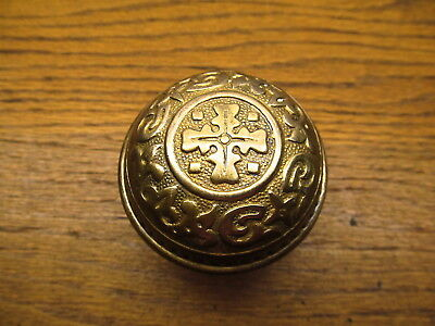 Old Brass ? Bronze ? Door Knob Ornate....nice