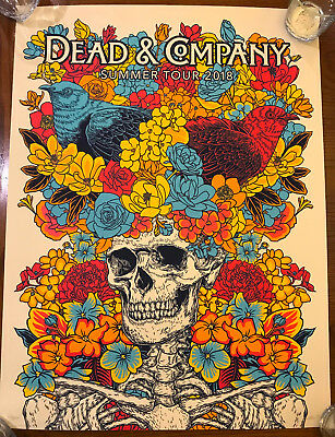 Dead & Co 2018 Summer Tour Poster (VIP only) signed numbered by John Vogl