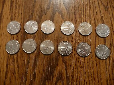 2009 Washington DC & US Territories Quarter Year Set - P&D UNC Coins From Rolls