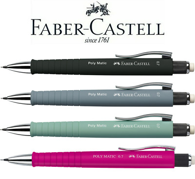 Faber-Castell Poly Matic Mechanical Pencil 0.7mm   All 4 Colours Available