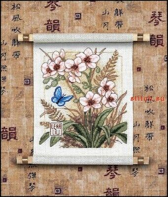 DIMENSIONS  GOLD NUGGETS*ASIAN BLOSSOMS*CROSS STITCH KIT  Kreuzstich-Stickpack