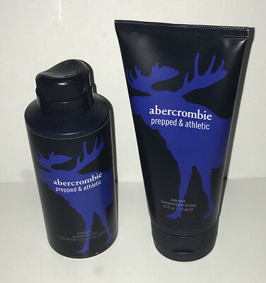 abercrombie kids PREPPED & ATHLETIC Boys Body Wash 6 oz + Spray 4.2 oz 2PC Set