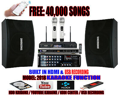 Singtronic Complete Professional 1000W Karaoke System with FREE: 40,000 Songs