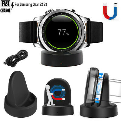 Charging Cradle Smart Watch Charger Dock For Samsung Gear S2 S3 Smartwatch
