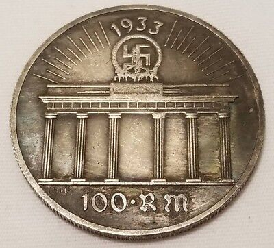 WW2 WWII  German Germany coin silver plated collector